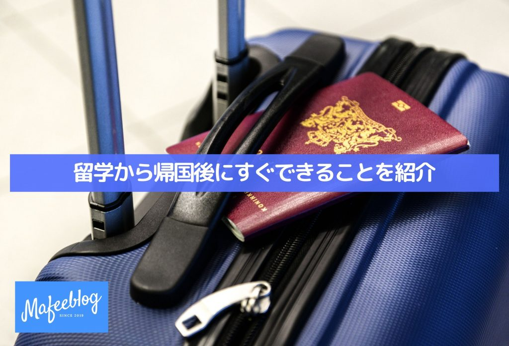 Introducing what you can do right after returning to Japan from studying abroad