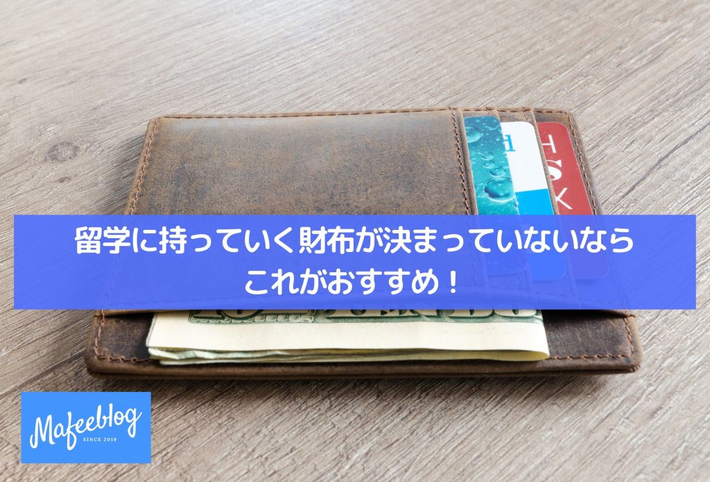 This is recommended if you don't have a wallet to bring to study abroad!