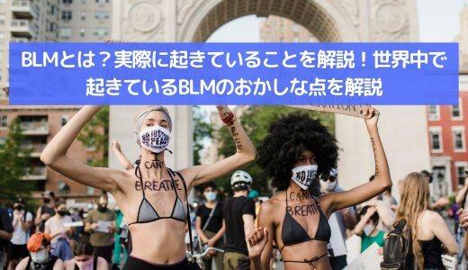 BLMとは?日本では報道されないことを解説!世界中で起きているBLMのおかしな点について